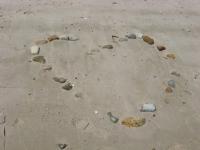 heart in sand