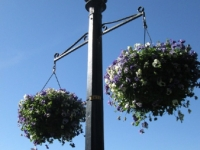 floral lamp posts