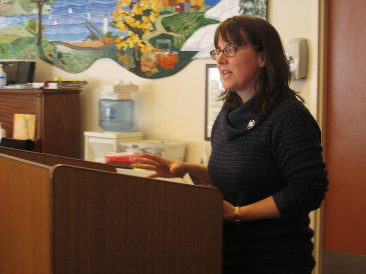 Sandra Orchard speaking