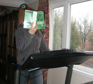 reader on treadmill